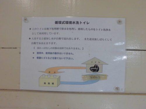 大野アルプスランドキャンプ場のトイレ