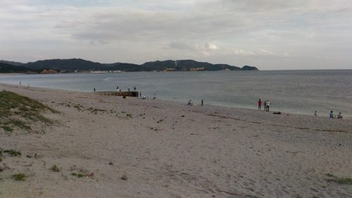 吹上浜のビーチ