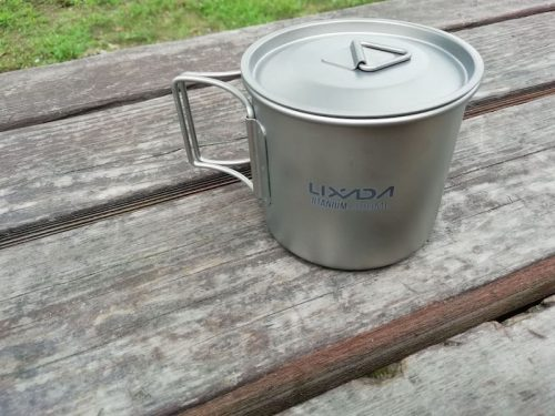 Lixadaハンドル付きチタンカップ