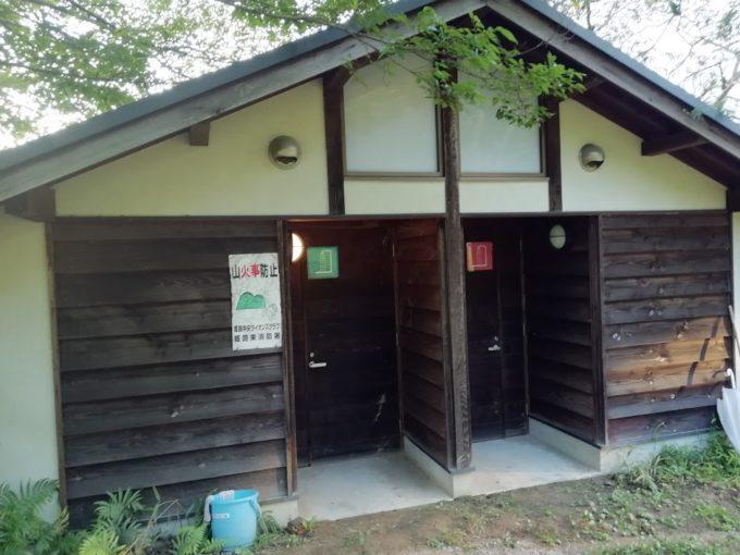 牧野キャンプ場のシャワー