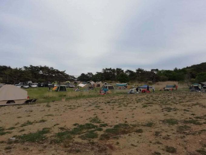 峰やか高原キャンプ場 テント設営エリア