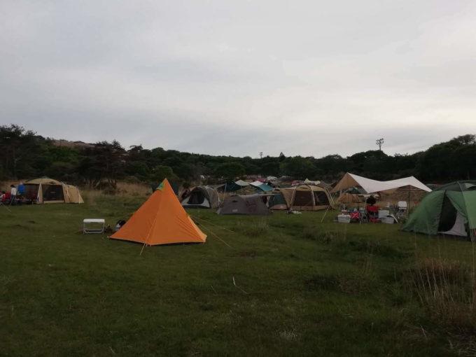 峰山高原キャンプ場のグラウンド状態