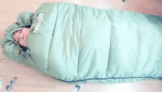 ホークギアの寝袋