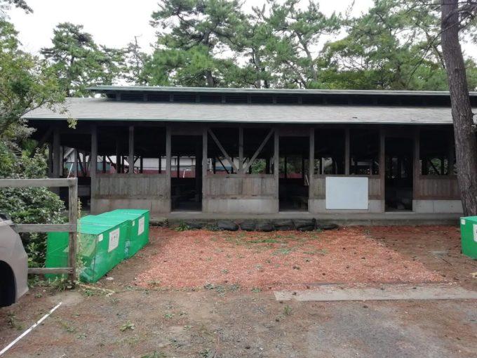 若狭和田キャンプ場のBBQハウス