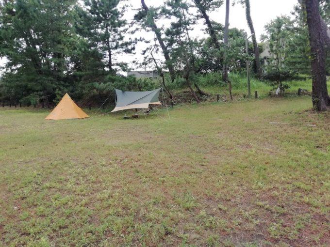 若狭和田キャンプ場のフリーサイト