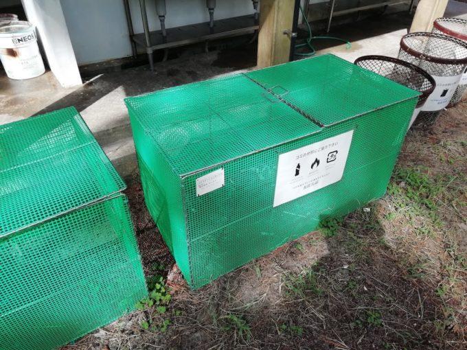 若狭和田キャンプ場のゴミ分別