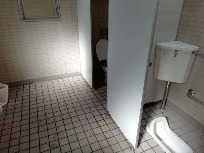 若狭和田キャンプ場のトイレ