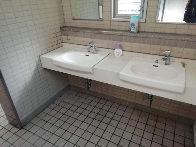 若狭和田キャンプ場の洗面所