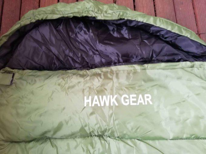 ホークギアの寝袋の首回り